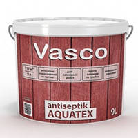 Лессирующая пропитка-антисептик Vasco antiseptik AQUATEX 0.9л Бесцветный под колеровку, фото 1