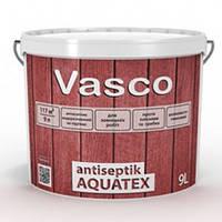 Лессирующая пропитка-антисептик Vasco antiseptik AQUATEX 9л Бесцветный под колеровку, фото 1