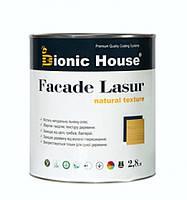 Фасадная лазурь Bionic House FACADE LASUR natural  texture  2,8 л