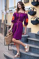 Сарафан из хлопка с вышивкой в этно стиле