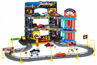 Игровой набор City Parking Парковка с лифтом и треком с 6 машинками Dave Toy (32004)