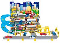 Игровой набор City Parking Парковка с подъемом, 3 уровня с 4 машинками Dave Toy (32037)