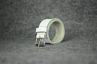Кожаный ремень под джинсы |10907| Белый