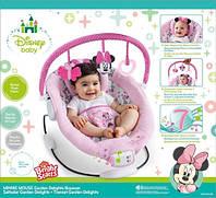 Кресло-качалка Цветочные мотивы Минни Маус, розовое Kids II (60578)