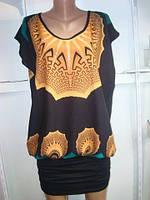 Туника платье оптом и в розницу с коротким рукавом