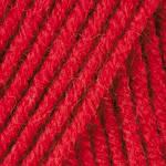 Пряжа для ручного вязания Yarnart Merino De Luxe 50(мерино де люкс 50) нитки зимняя пряжа 156 красны