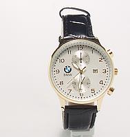 Часы наручные  с календарем мужские BMW копия