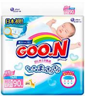 Подгузники GOO N для новорожденных до 5 кг (размер SS, на липучках, унисекс, 90 шт) Goo.N (853073)