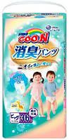 Трусики-подгузники GOO N серии AROMAGIC DEO PANTS для весом детей 12-20 кг (р Big(XL), унисекс, 36 шт ) Goo.N (853112)