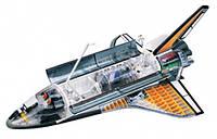 Космический корабль Спейс Шатл - объемная модель, 1:72, 4D Master (26116)