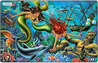 Пазл рамка-вкладыш Русалки и дельфин, серия Миди, Larsen, Русалки и дельфин (U15-(1-2)-1)