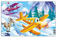 Пазл рамка-вкладыш Самолетики, серия Миди, Larsen (U7-2)