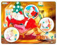 Пазл рамка-вкладыш Санта Клаус, серия Макси, Larsen (JUL2)