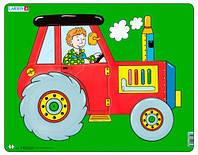 Пазл рамка-вкладыш Трактор, серия Макси, Larsen (NM3)