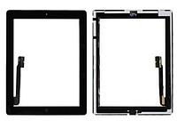 Сенсор (тачскрин) для Apple iPad 3/4 с кнопкой черный