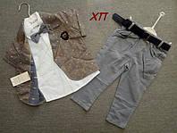 Нарядный  костюм-тройка для мальчика с бабочкой р. 98