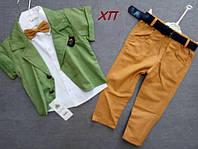Нарядный костюм-тройка для мальчика с бабочкой