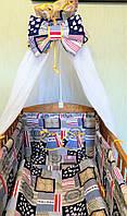 """Набор постельного белья для новорожденного """"Кораблики"""""""