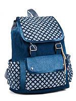 Модный яркий джинсовый школьный на завязке, цвет синий   наличии,.Качество