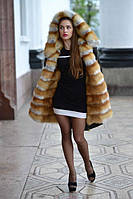 """Стильная куртка парка выполненная из плащевки с шикарным мехом лисы """"Sarah"""""""