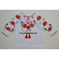 """Вышиванка для девочки """"Маки Червоні"""" (3 года)"""