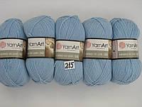 Пряжа для ручного вязания Yarnart  Merino De Luxe 50 ( мерино де люкс 50) нитки зимняя пряжа 215 голубой