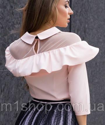 Женская блузка с сеткой на плечах(1870/istie), фото 2