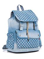 Модный яркий джинсовый школьный на завязке, цвет  светло синий   наличии,.Качество