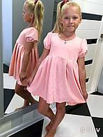 """Детское стильное короткое платье 327 """"Куколка Жаккард"""" в расцветках"""