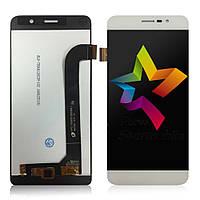 Дисплей (Модуль) для мобильного телефона Archos 50 Power, белый, с тачскрином, ORIG