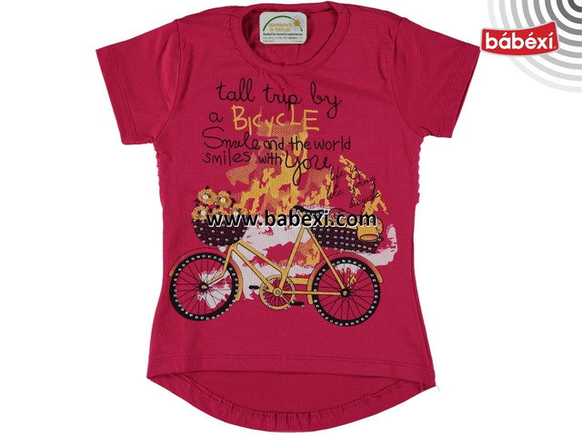 Футболка для девочки bike 5, 6, 7, 8 лет
