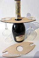 Подставка для бокалов, деревянная