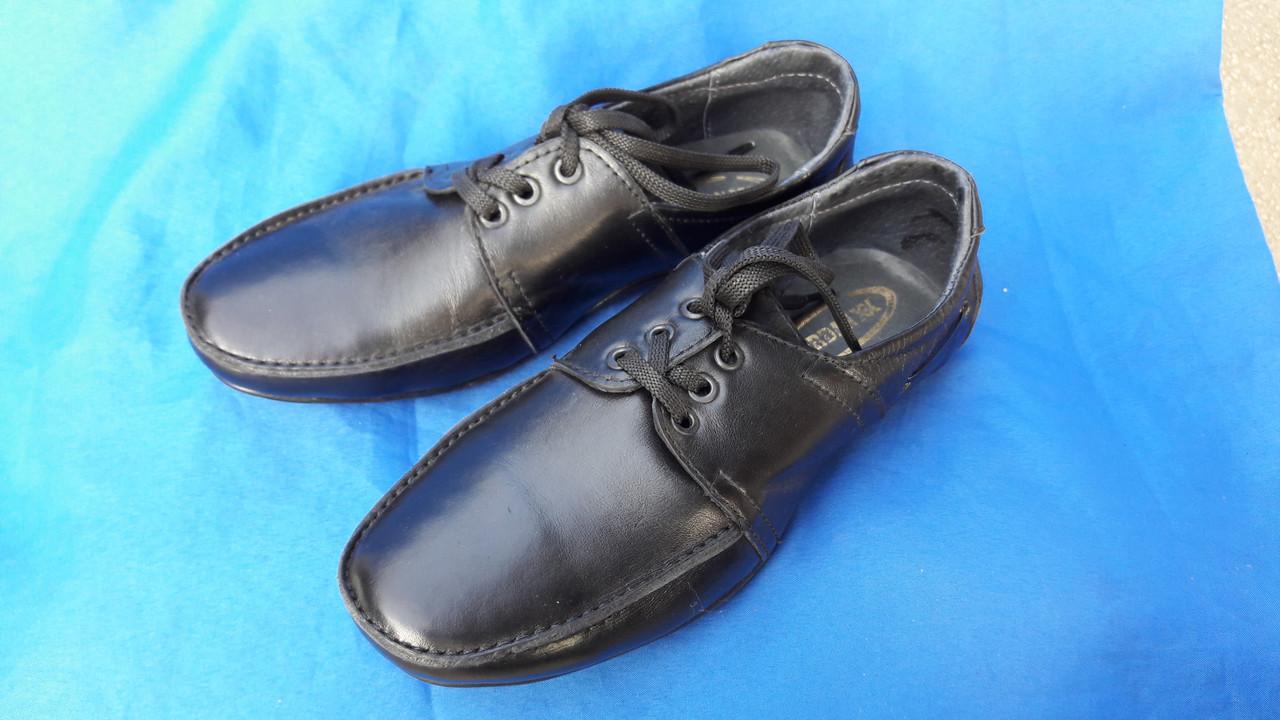 Кожаные туфли на мальчика Jordan 3701
