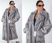 """Норковое пальто цвета """"Сапфир"""""""