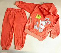 """Костюм трикотажный для девочек """"Зайка с морковкой"""" от 6-12м .Оптом"""
