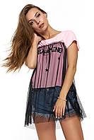 Интересная женская футболка Бенавенте розовая