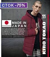 Модная японская куртка демисезонная Киро Токао 4864 бордовая