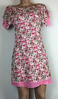 Женское  платье туника в цветочек двойное  хс, с, м, л, хл