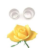 Каттер для мастики Роза металл кружочки из 4х
