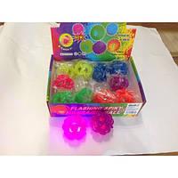 Сувенир Попрыгунчик светящийся 4106-3 разноцветный 6,5см уп12