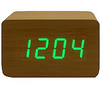 Часы  светодиодные от батареек под дерево 1294