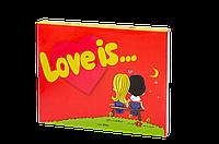 "Шоколадный набор на 12 плиточек ""Love Is''"