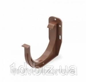 Держатель желоба ПВХ водосточной системы Бриза (Bryza) 125 мм коричневый