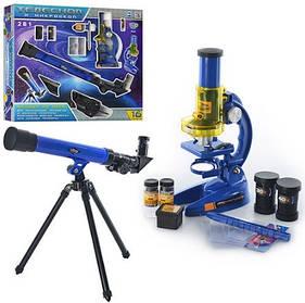 Микроскоп с телескопом. Детский набор 2в1.  Limo Toy CQ 031