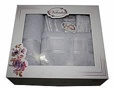 Женский махровый халат с полотенцами Volenka: халат + 2 полотенца, фото 3