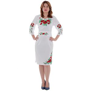 """Платье женское """"Маковая роса"""" белое, фото 2"""