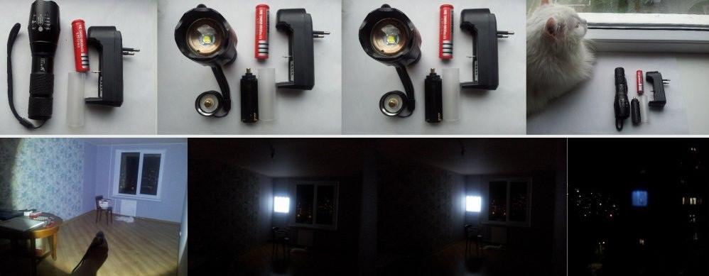 Тактический фонарь UltraFire XM-L T6