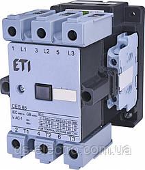 Контактор силовой CES, контакты 3Н.О.(основные)+2Н.О.+2Н.З., катушка 230 В, ETI,