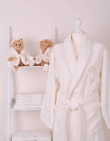Женский махровый халат с полотенцами Volenka: халат + 2 полотенца, фото 2