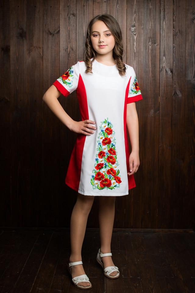 """Красивое вышитое детское платье """"Алёнка"""""""
